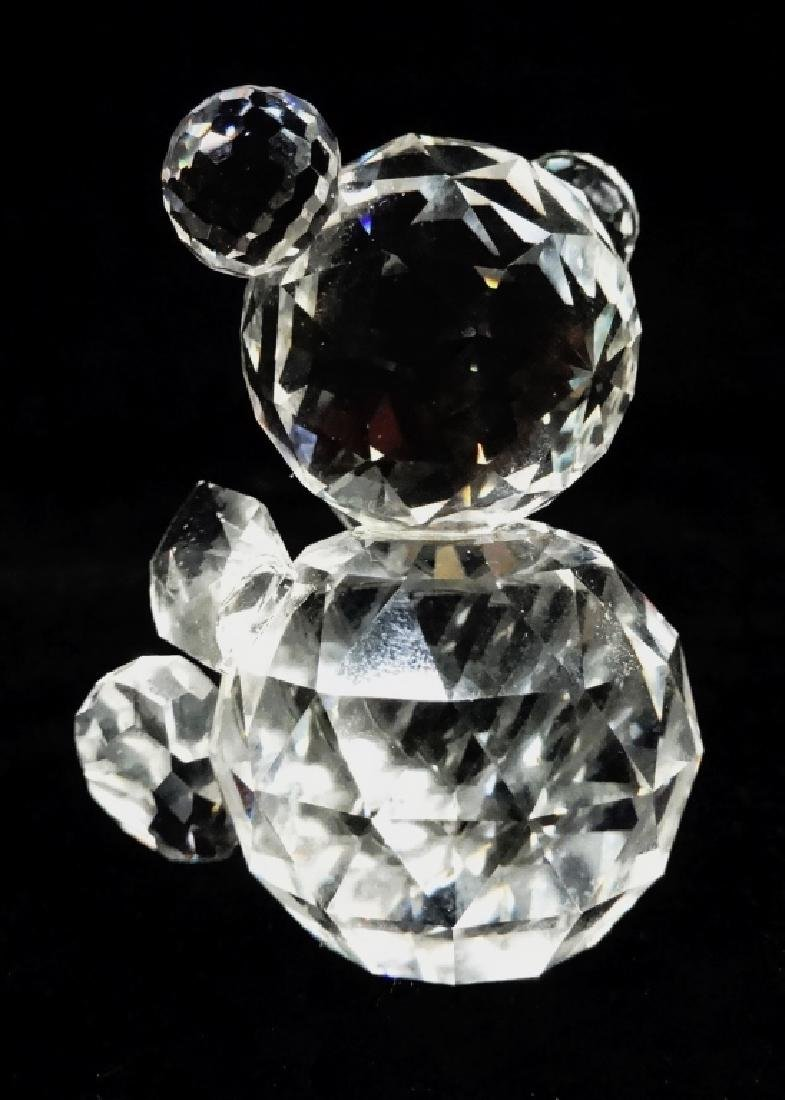 VINTAGE SWAROVSKI CRYSTAL BEAR, SEATED, WITH OLD BLOCK - 4