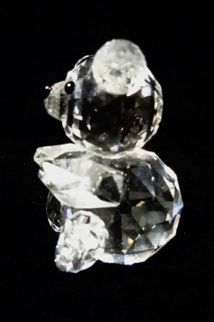 VINTAGE SWAROVSKI CRYSTAL BEAR, SEATED, WITH OLD BLOCK - 5