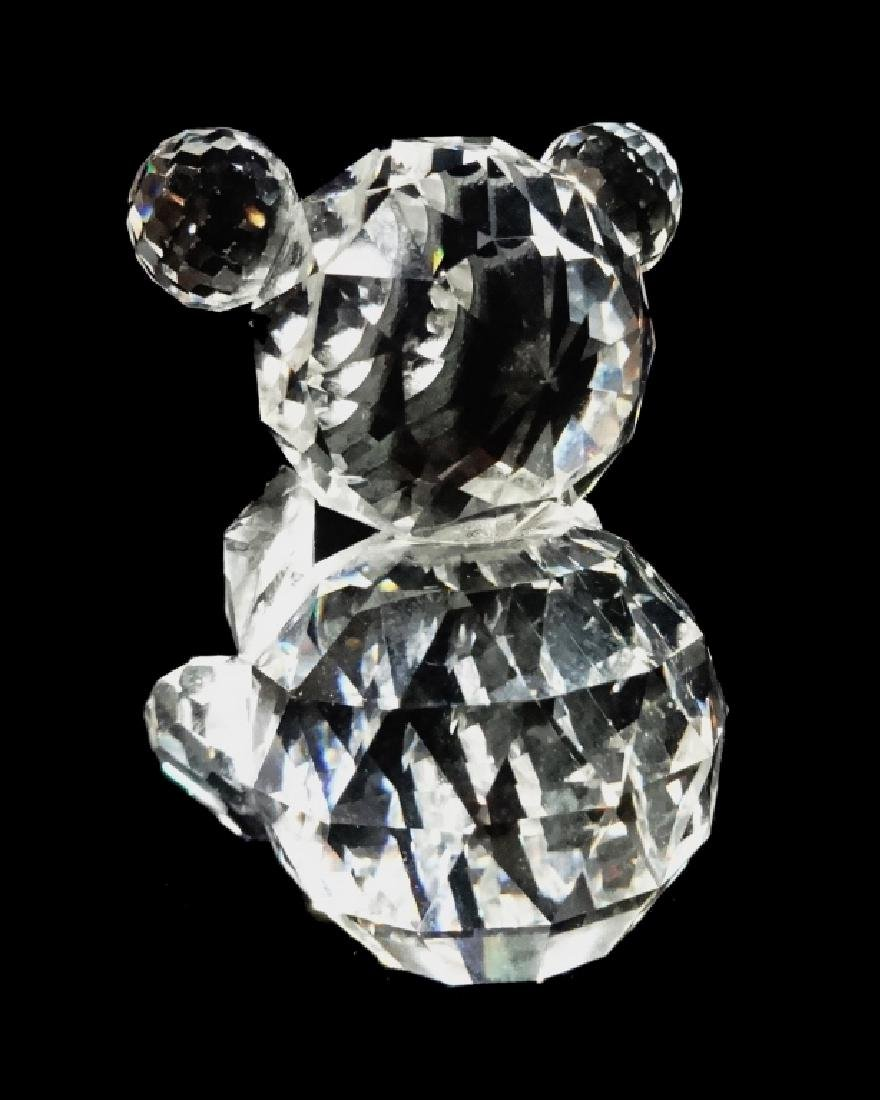 VINTAGE SWAROVSKI CRYSTAL BEAR, SEATED, WITH OLD BLOCK - 3