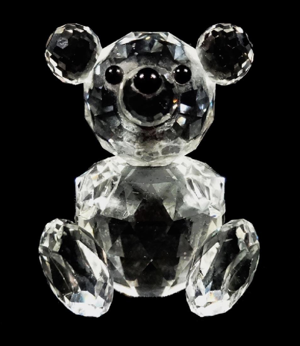 VINTAGE SWAROVSKI CRYSTAL BEAR, SEATED, WITH OLD BLOCK - 6