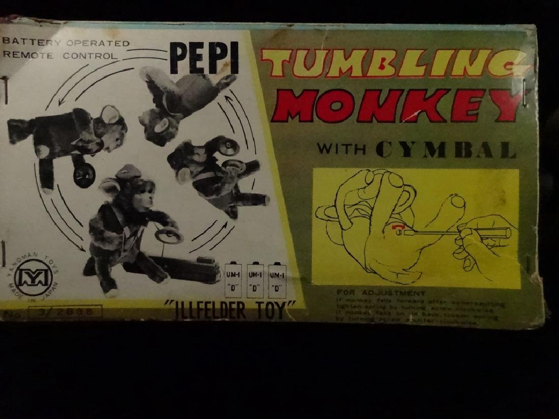 VINTAGE PEPI TUMBLING MONKEY TOY, BATTERY OPERATED, BY - 7
