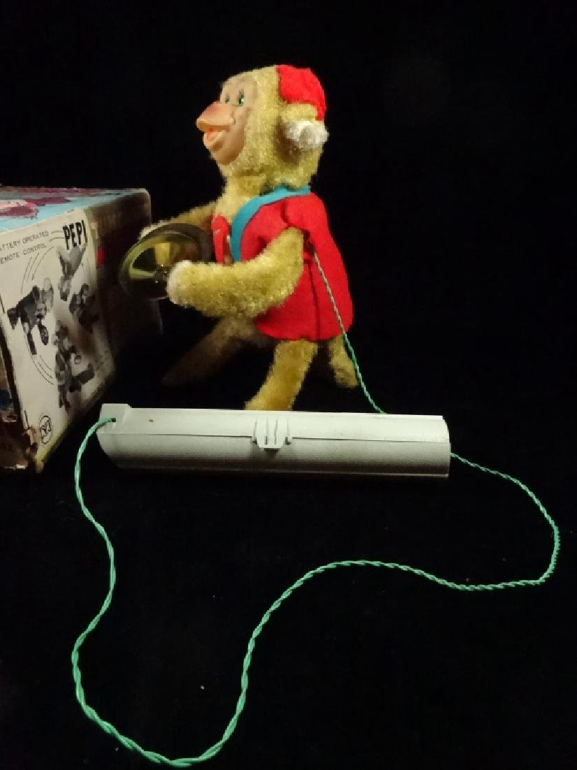 VINTAGE PEPI TUMBLING MONKEY TOY, BATTERY OPERATED, BY - 8