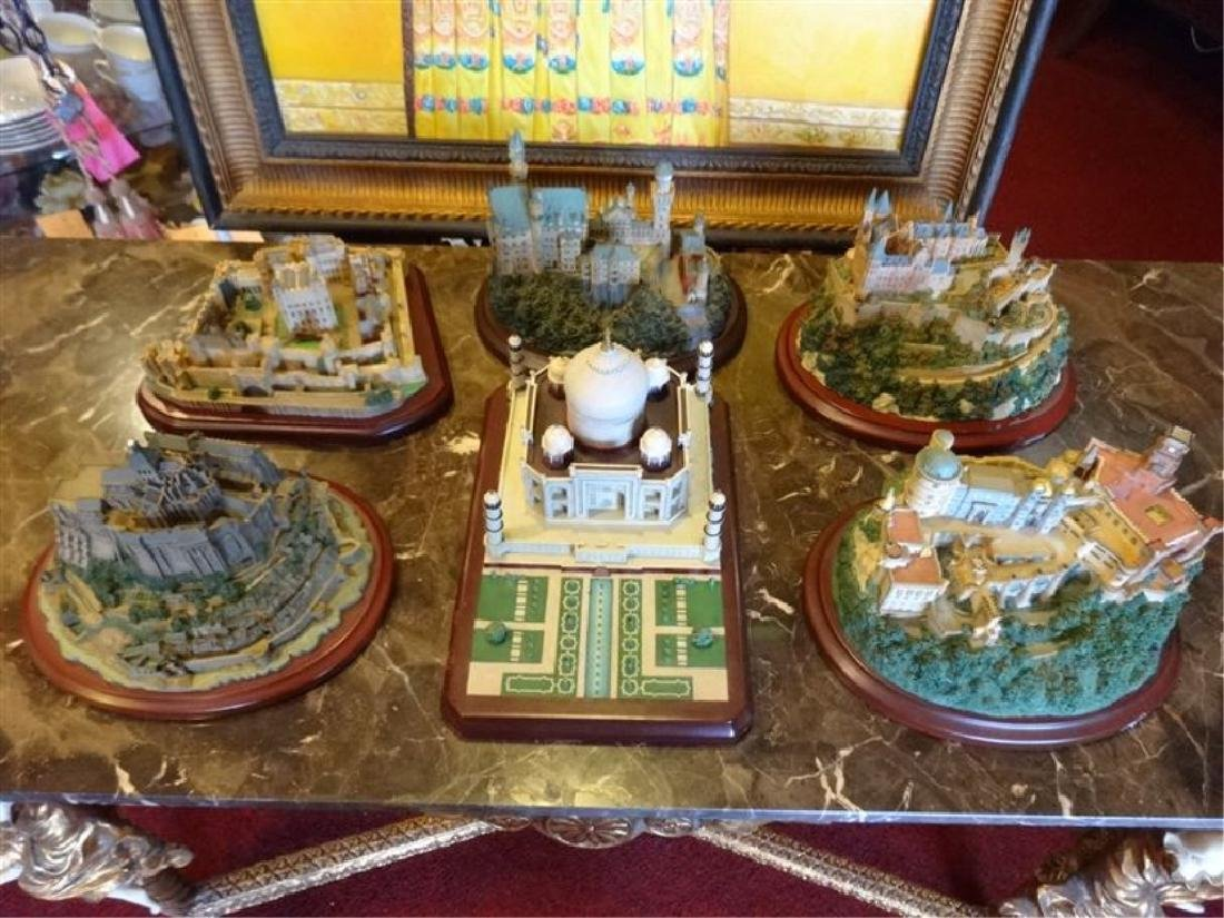 6 PC LENOX GREAT CASTLES OF THE WORLD SCULPTURES,