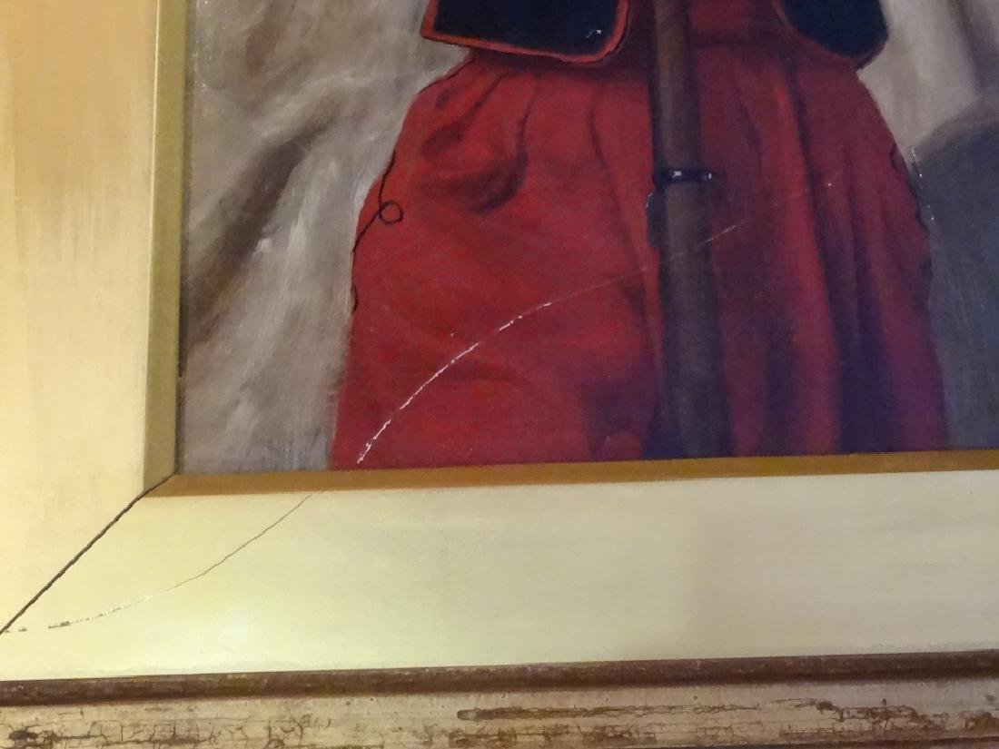 W. WISE SIGNED OIL ON CANVAS PAINTING, MAN IN RED FEZ, - 6