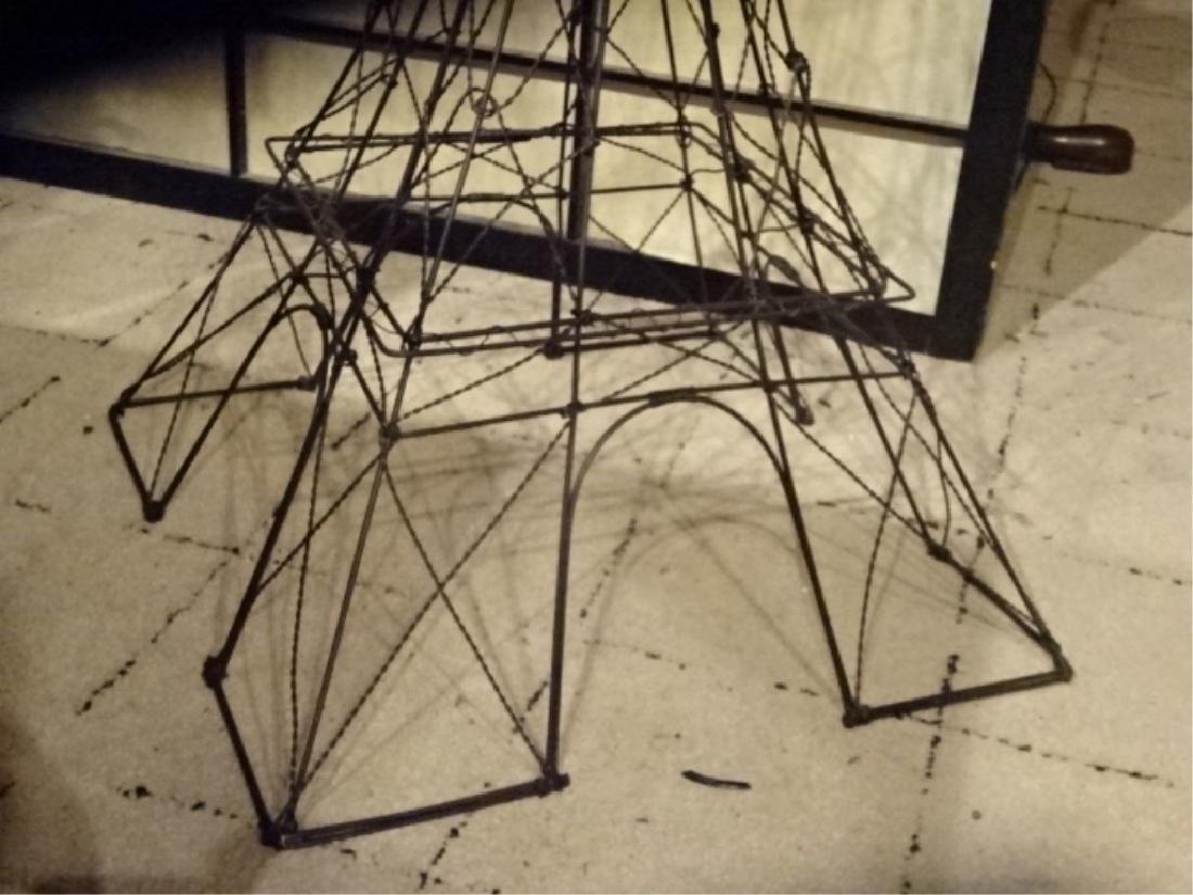 METAL EIFFEL TOWER SCULPTURE, BLACK ENAMEL METAL, VERY - 2