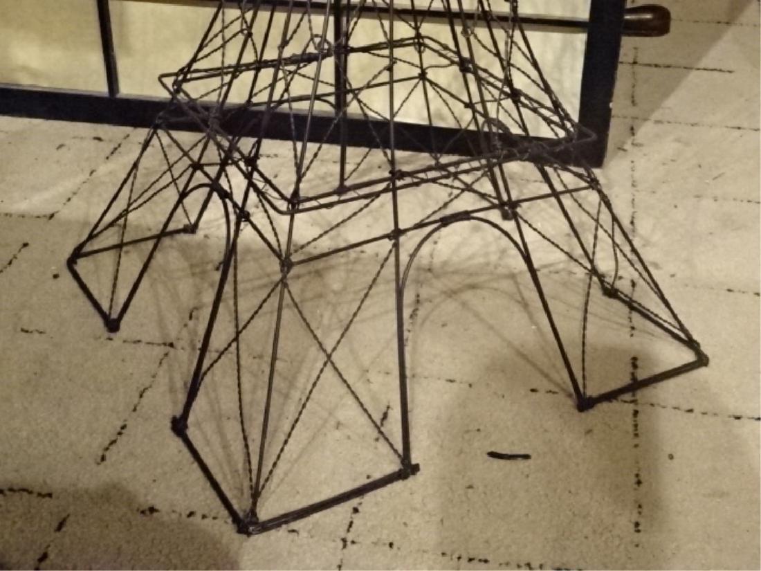 METAL EIFFEL TOWER SCULPTURE, BLACK ENAMEL METAL, VERY - 4