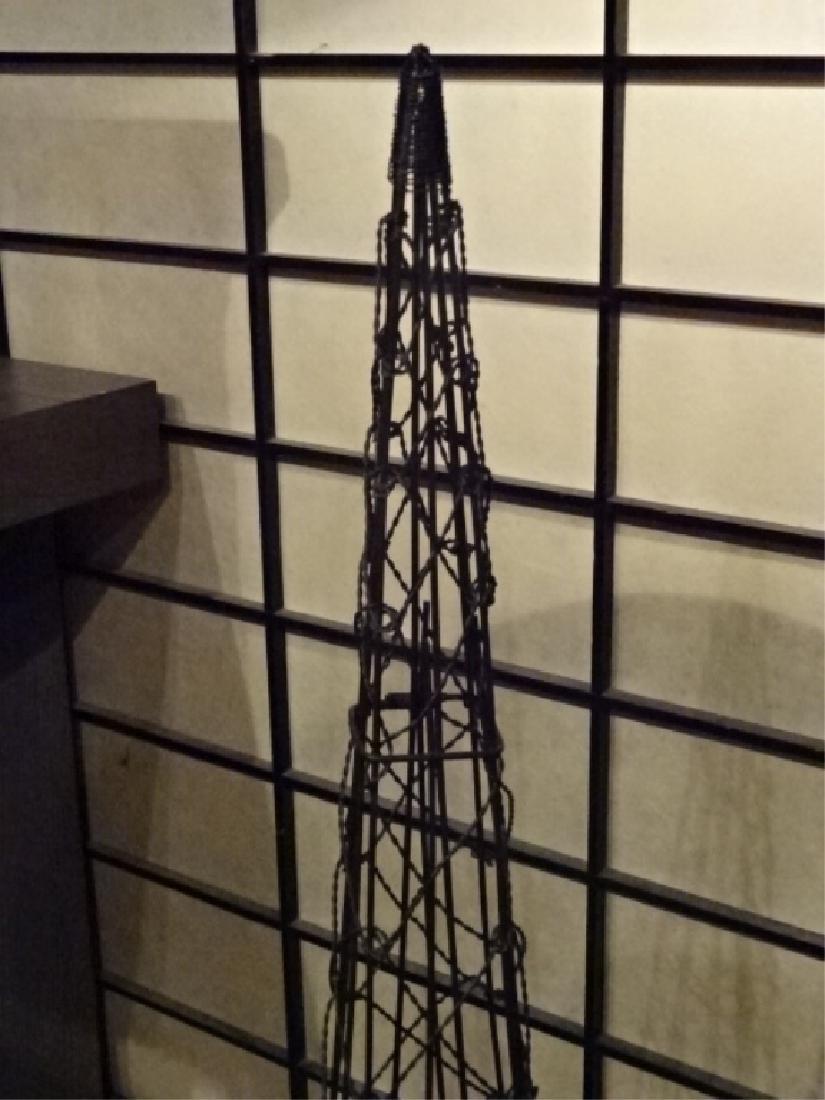 METAL EIFFEL TOWER SCULPTURE, BLACK ENAMEL METAL, VERY - 5