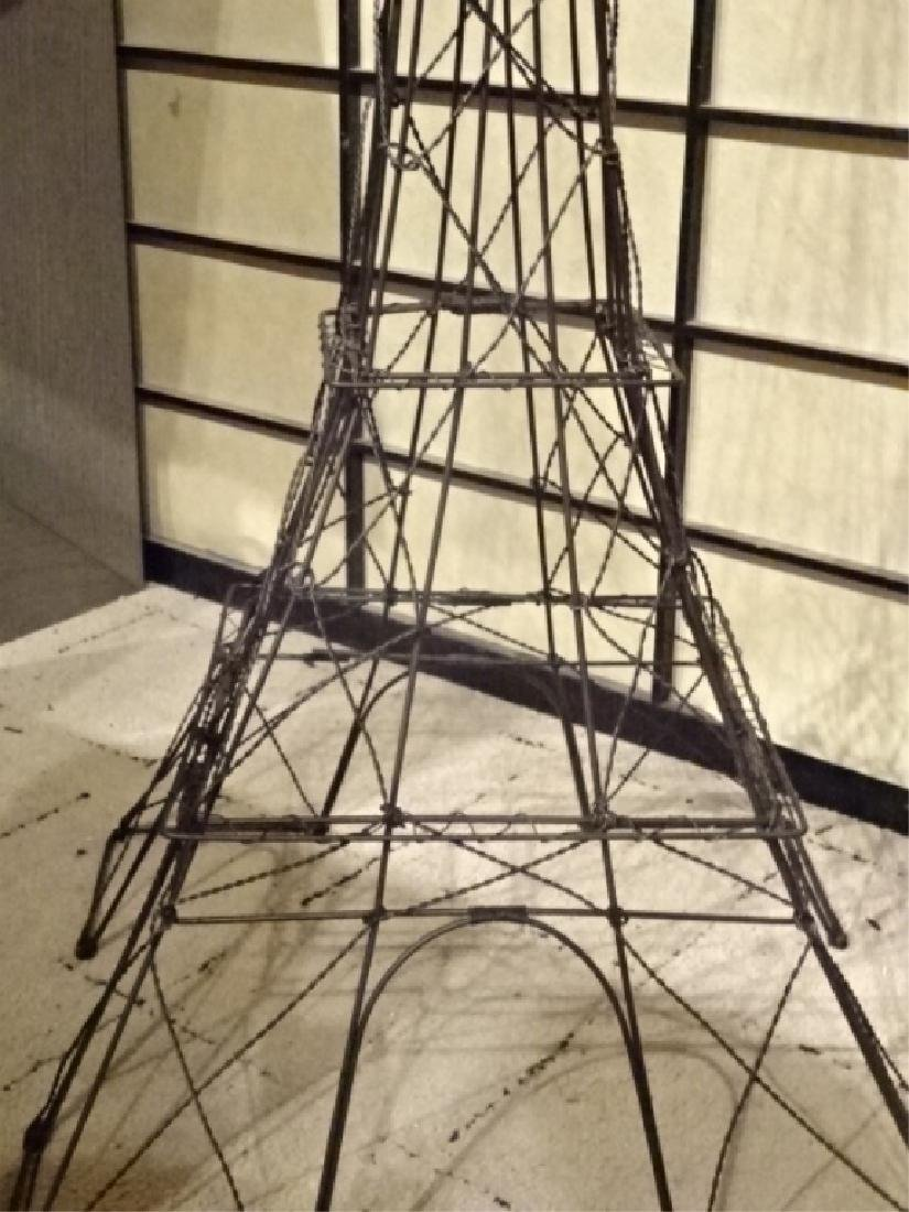 METAL EIFFEL TOWER SCULPTURE, BLACK ENAMEL METAL, VERY - 6