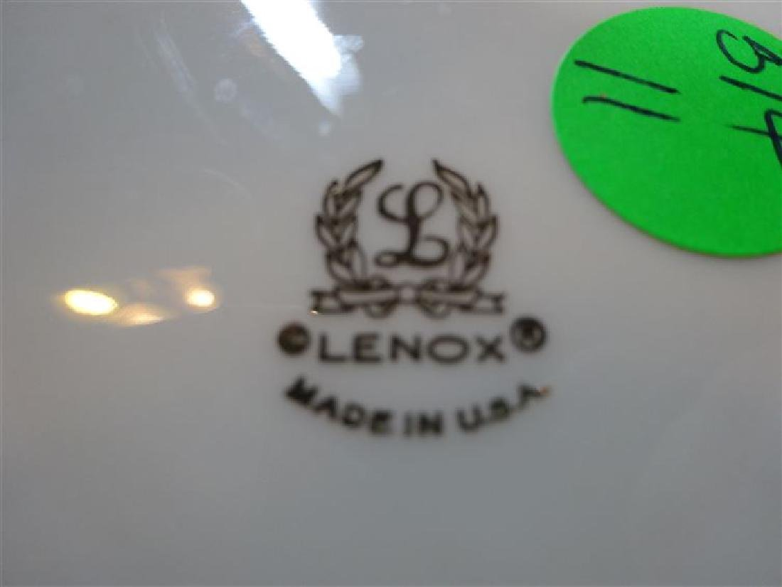 2 PC LENOX PORCELAIN BOWLS, LARGE FOOTED BOWL AND SMALL - 6