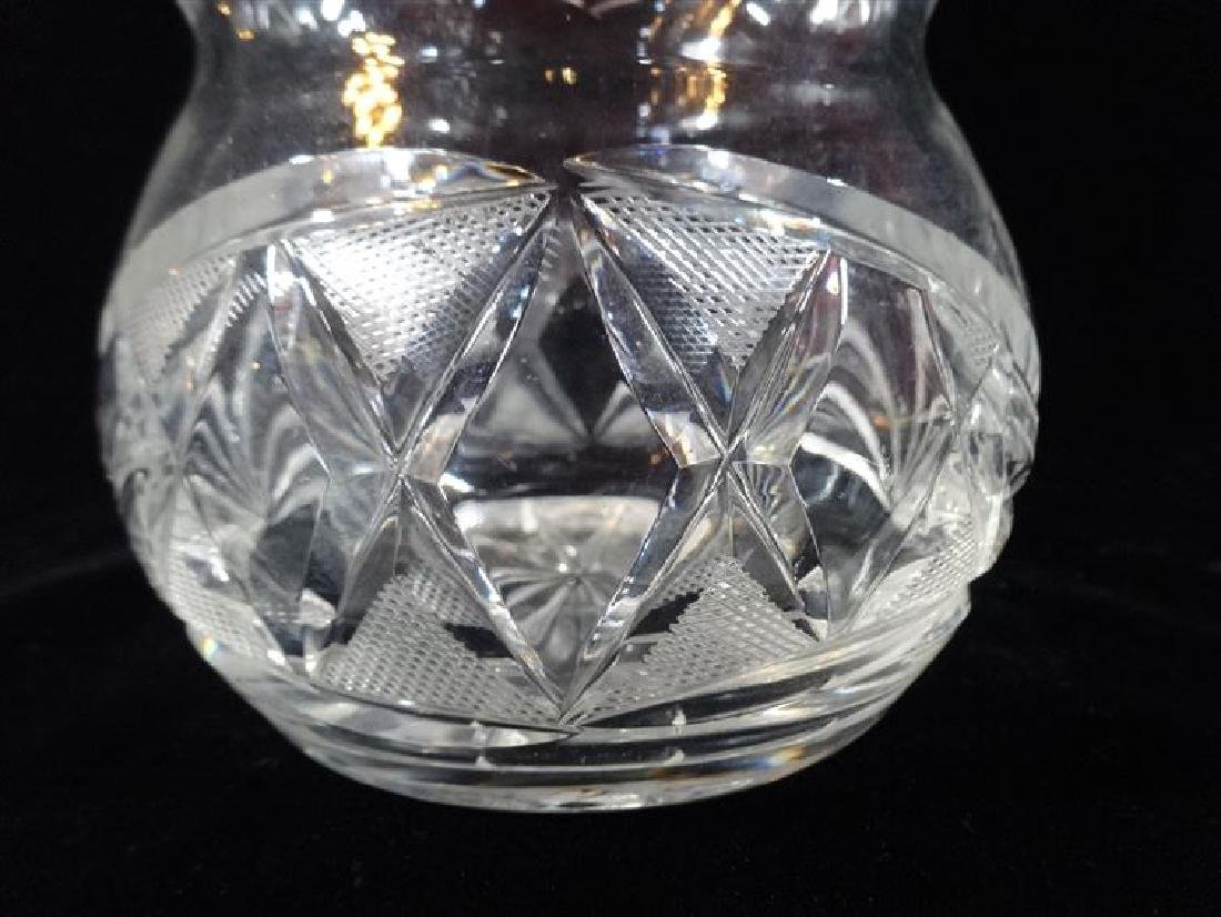 LARGE CRYSTAL DECANTER, TRIPLE GOURD SHAPE, VERY GOOD - 2