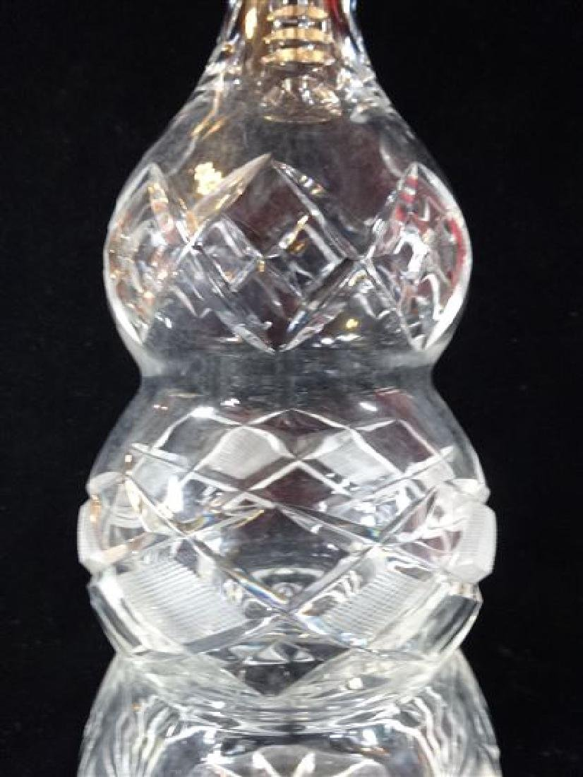LARGE CRYSTAL DECANTER, TRIPLE GOURD SHAPE, VERY GOOD - 3