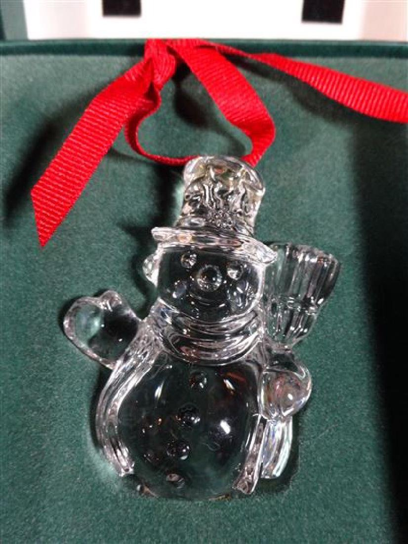 2 WATERFORD GLASS CHRISTMAS TREE ORNAMENT, IN ORIGINAL - 2