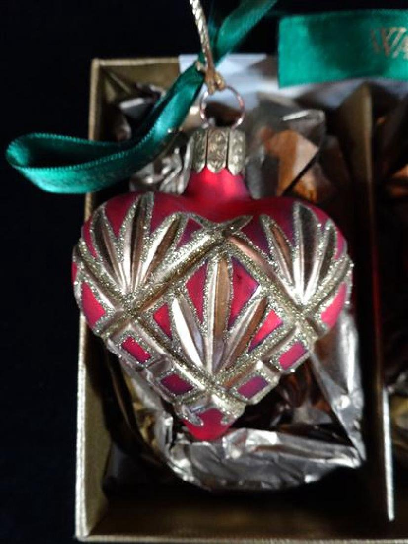 3 WATERFORD GLASS CHRISTMAS TREE ORNAMENTS, IN ORIGINAL - 2