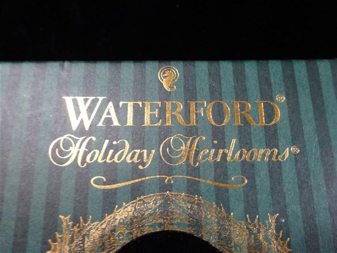 3 WATERFORD GLASS CHRISTMAS TREE ORNAMENTS, IN ORIGINAL - 5