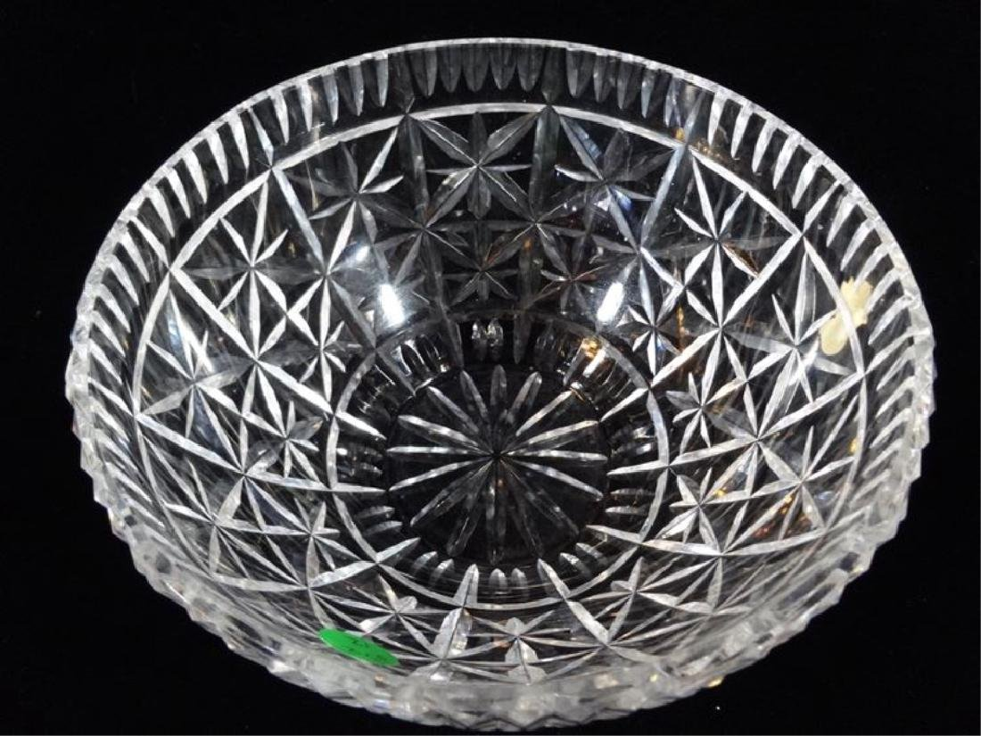 """WATERFORD LEAD CRYSTAL BOWL, ETCHED WATERFORD MARK, 8""""W"""