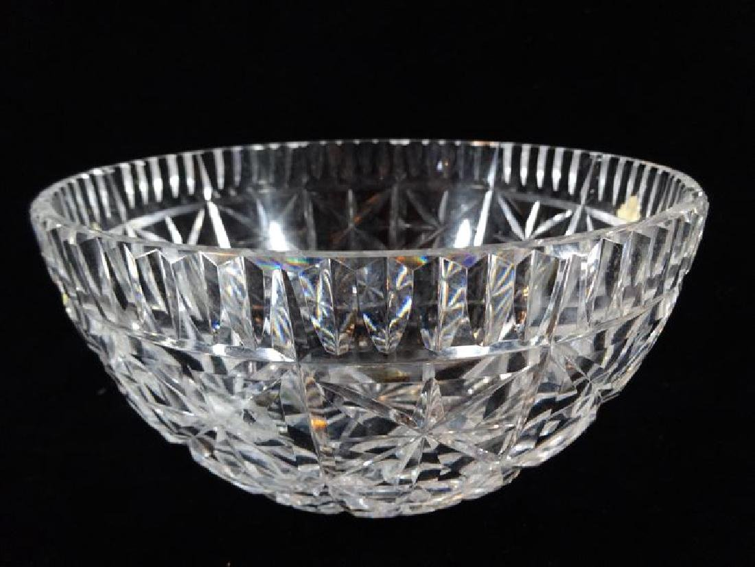 """WATERFORD LEAD CRYSTAL BOWL, ETCHED WATERFORD MARK, 8""""W - 2"""