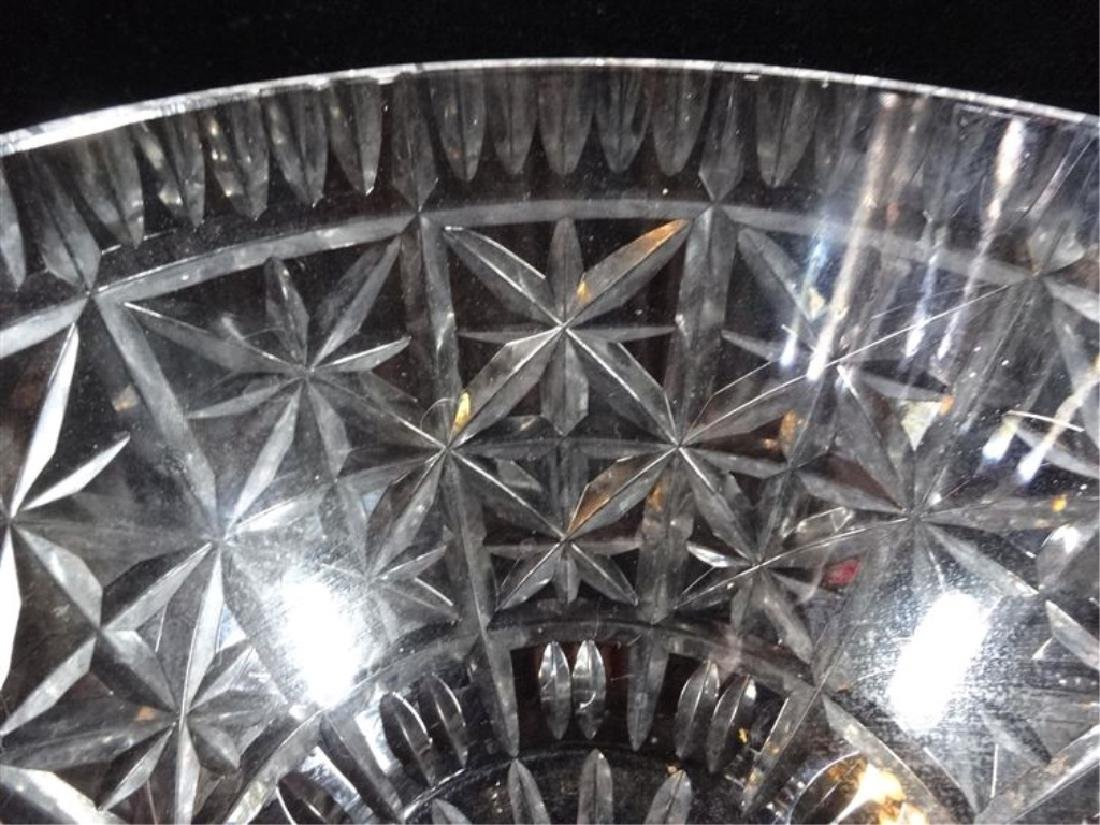 """WATERFORD LEAD CRYSTAL BOWL, ETCHED WATERFORD MARK, 8""""W - 3"""