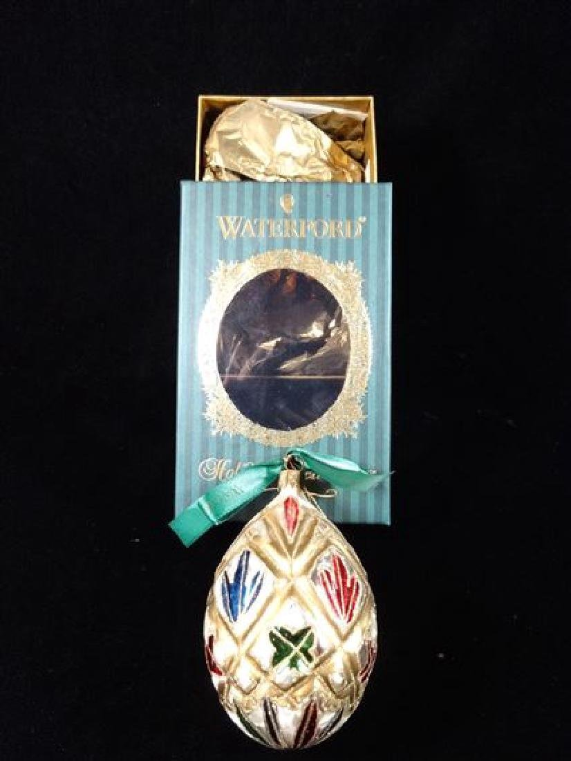 WATERFORD GLASS CHRISTMAS TREE ORNAMENT, IN ORIGINAL