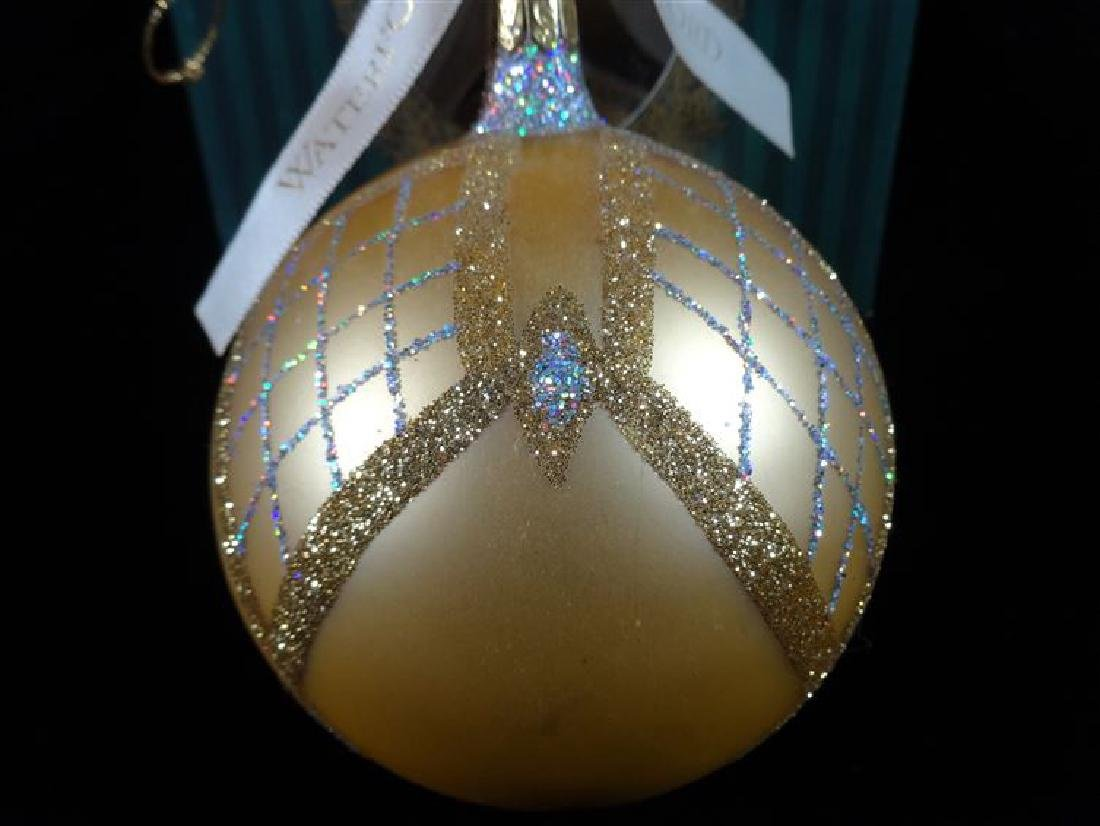WATERFORD GLASS CHRISTMAS TREE ORNAMENT, IN ORIGINAL - 2