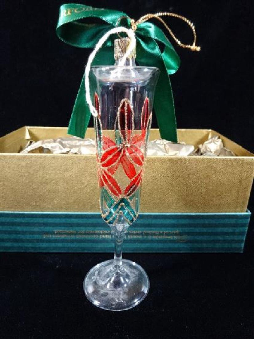 WATERFORD GLASS CHRISTMAS TREE ORNAMENT, CHAMPAGNE
