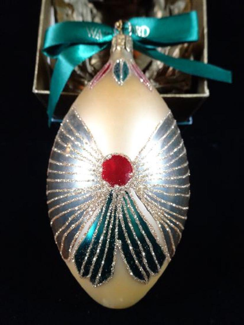 WATERFORD GLASS CHRISTMAS TREE ORNAMENT, IN ORIGINAL - 3