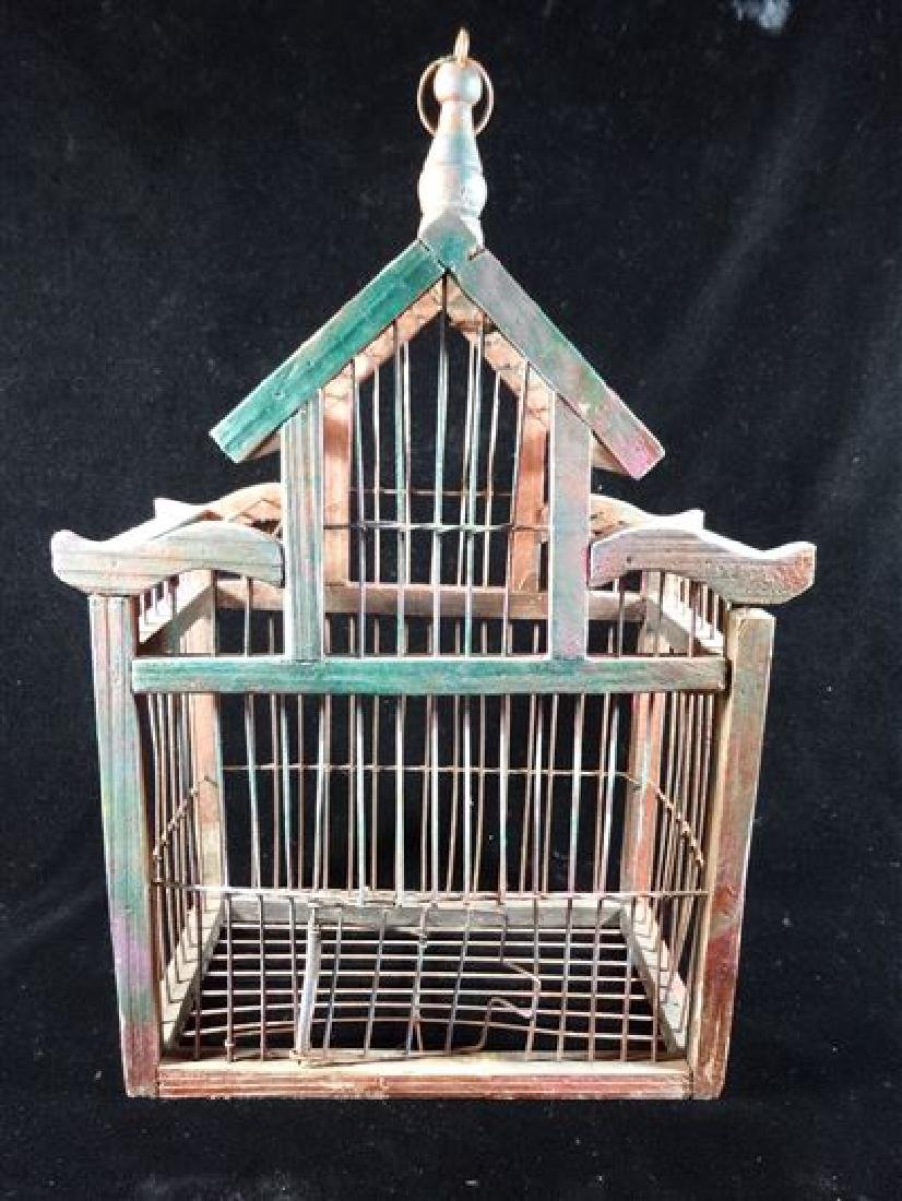 """SMALL WOOD BIRDCAGE, APPROX 10"""", SKU512.25"""