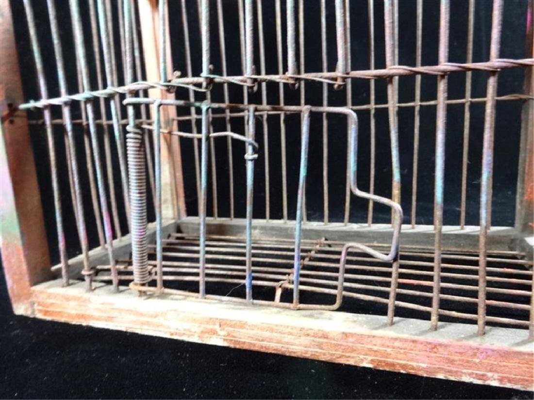 """SMALL WOOD BIRDCAGE, APPROX 10"""", SKU512.25 - 3"""