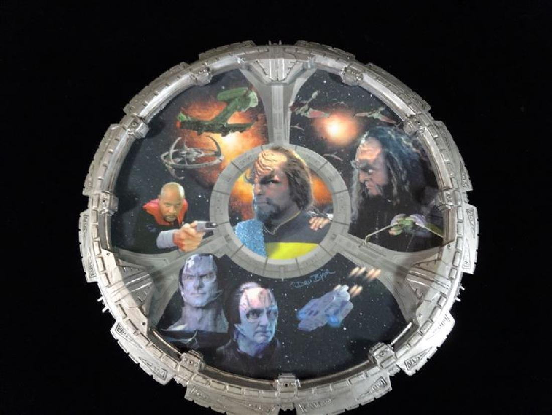 DRU BLAIR STAR TREK PORCELAIN PLATE, FROM STAR TREK THE