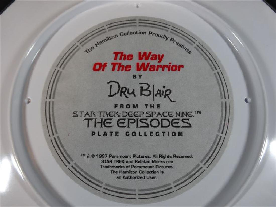DRU BLAIR STAR TREK PORCELAIN PLATE, FROM STAR TREK THE - 5