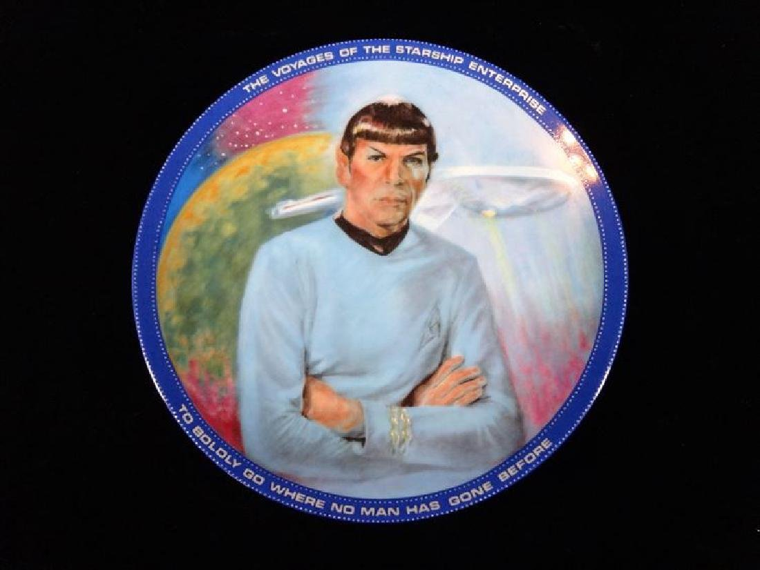 MR SPOCK STAR TREK COLLECTIBLE PORCELAIN PLATE, WITH