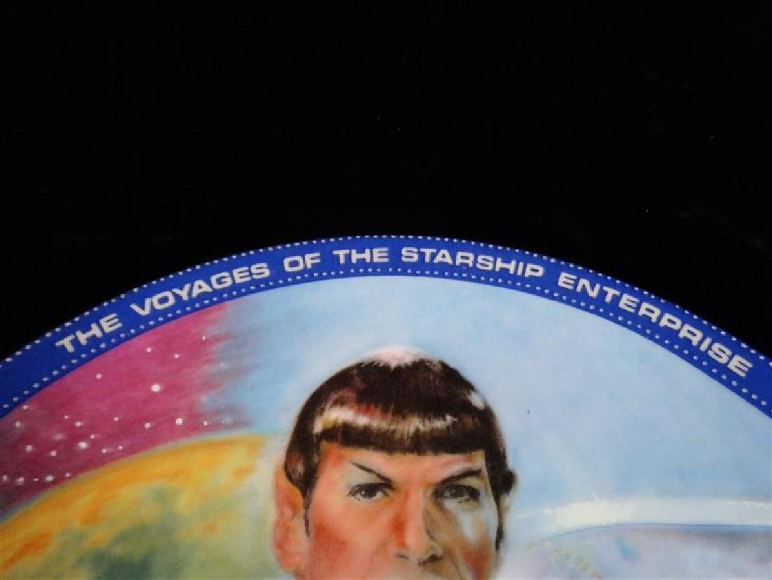 MR SPOCK STAR TREK COLLECTIBLE PORCELAIN PLATE, WITH - 3