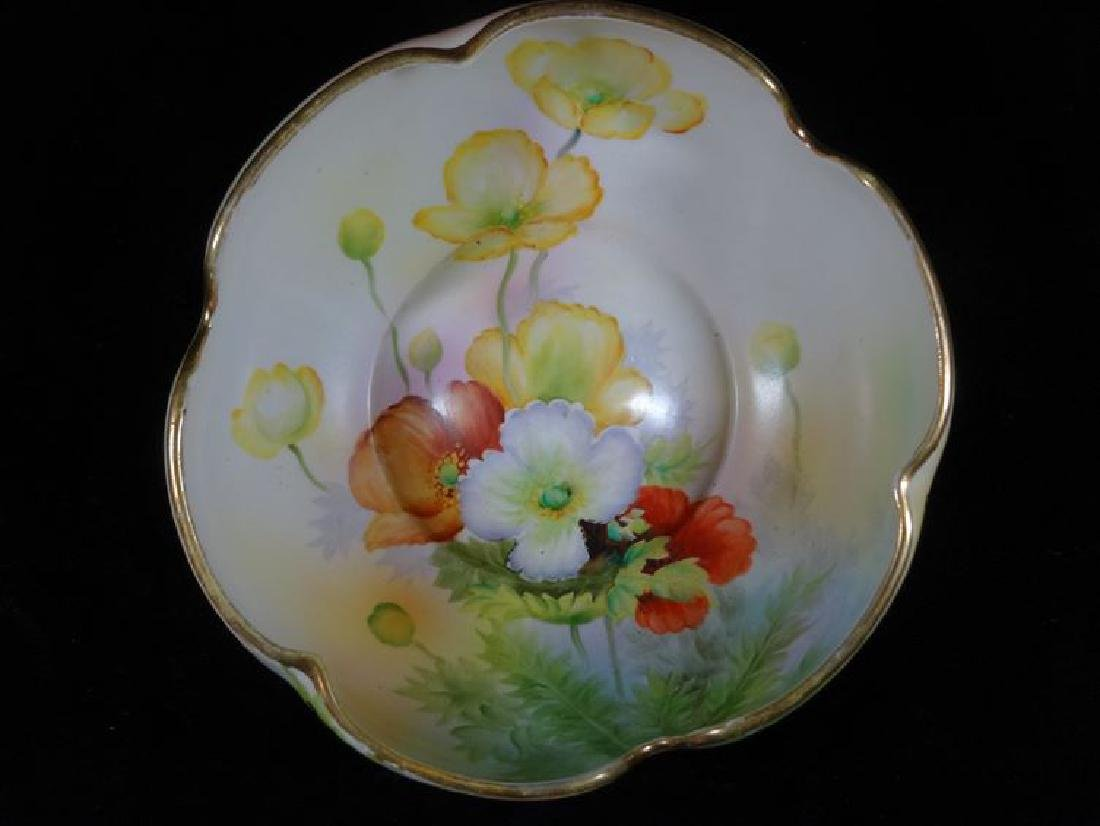NIPPON HAND PAINTED PORCELAIN BOWL WITH FLORALS,,