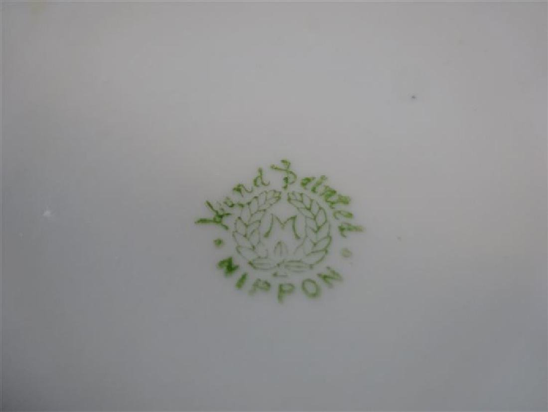 NIPPON HAND PAINTED PORCELAIN BOWL WITH FLORALS,, - 4