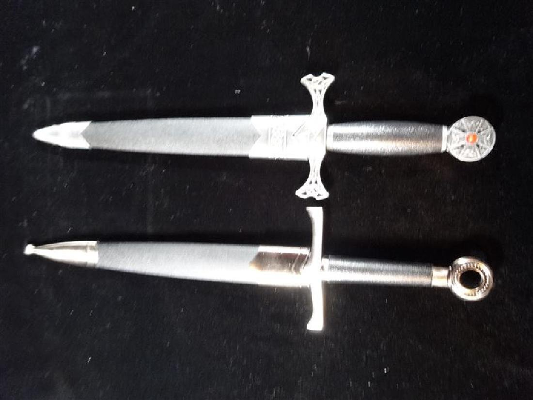 """2 REPLICA SWORD WITH SHEATHS, VERY GOOD CONDITION, 16"""""""