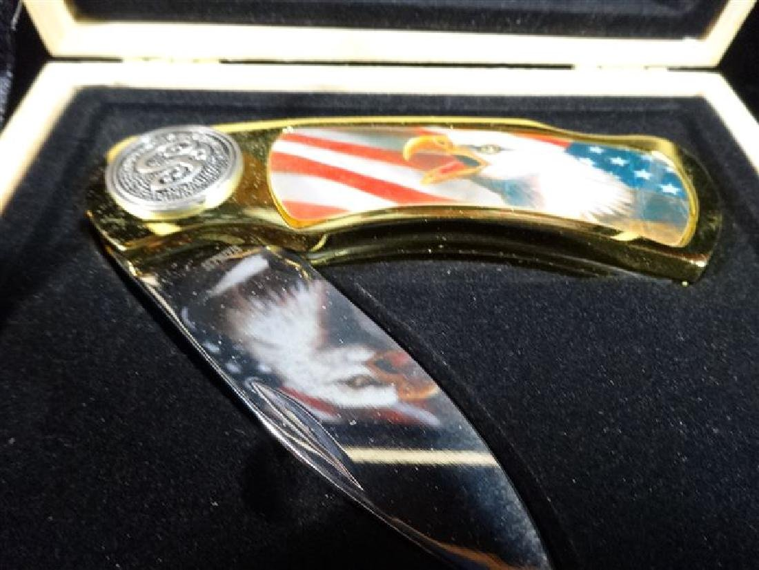 "AMERICAN EAGLE POCKET KNIFE IN CASE, 6"" X 5"", SKU515.03 - 2"