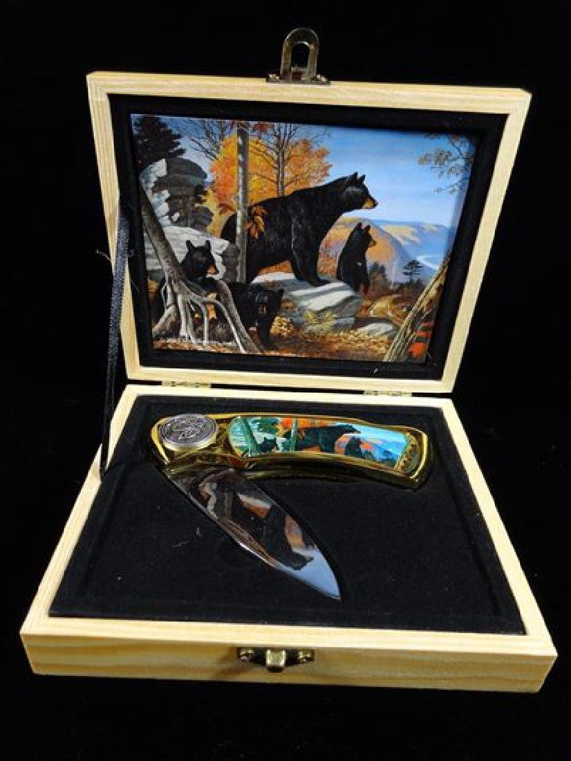 "GRIZZLY BEAR POCKET KNIFE IN CASE, 6"" X 5"", SKU515.03"