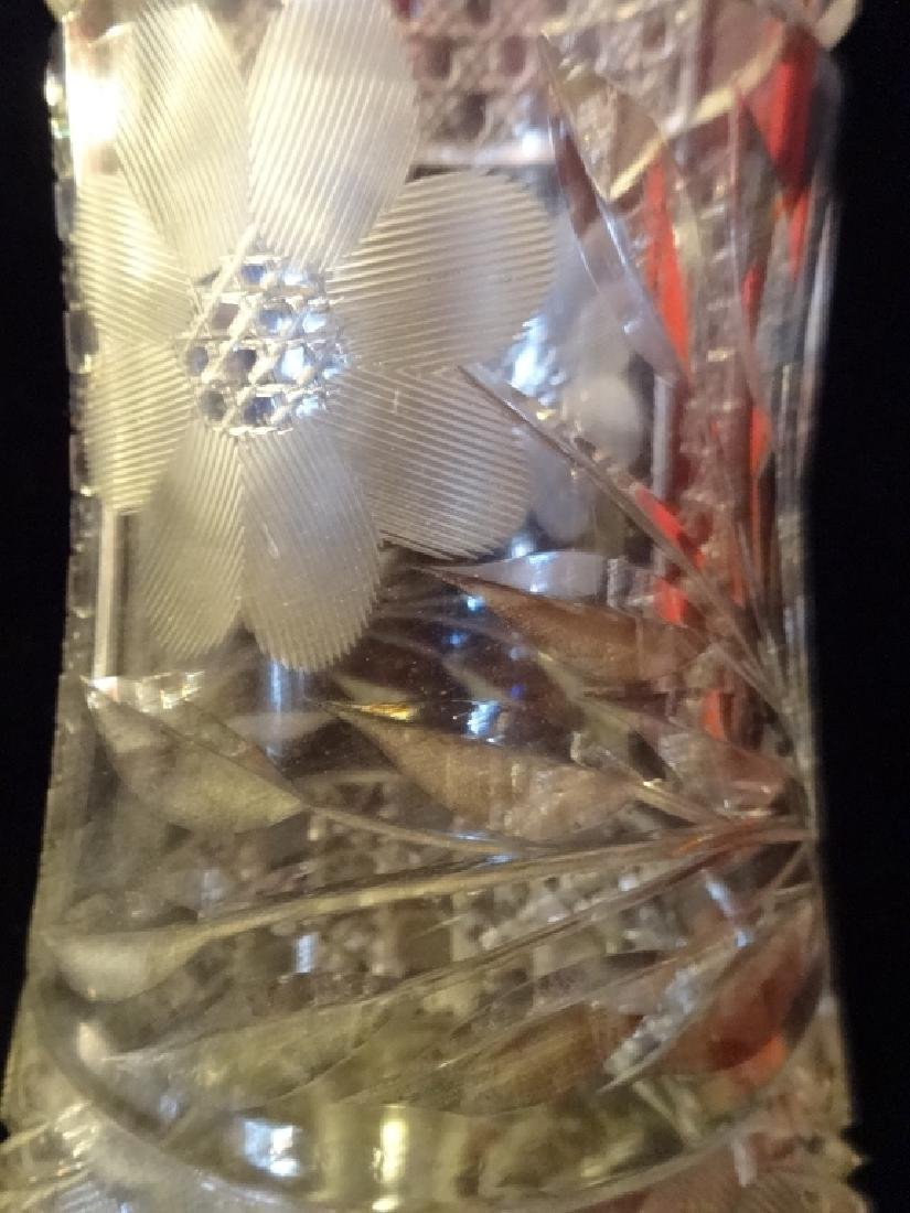 """LARGE CUT CRYSTAL VASE, APPROX 16"""" X 7"""""""