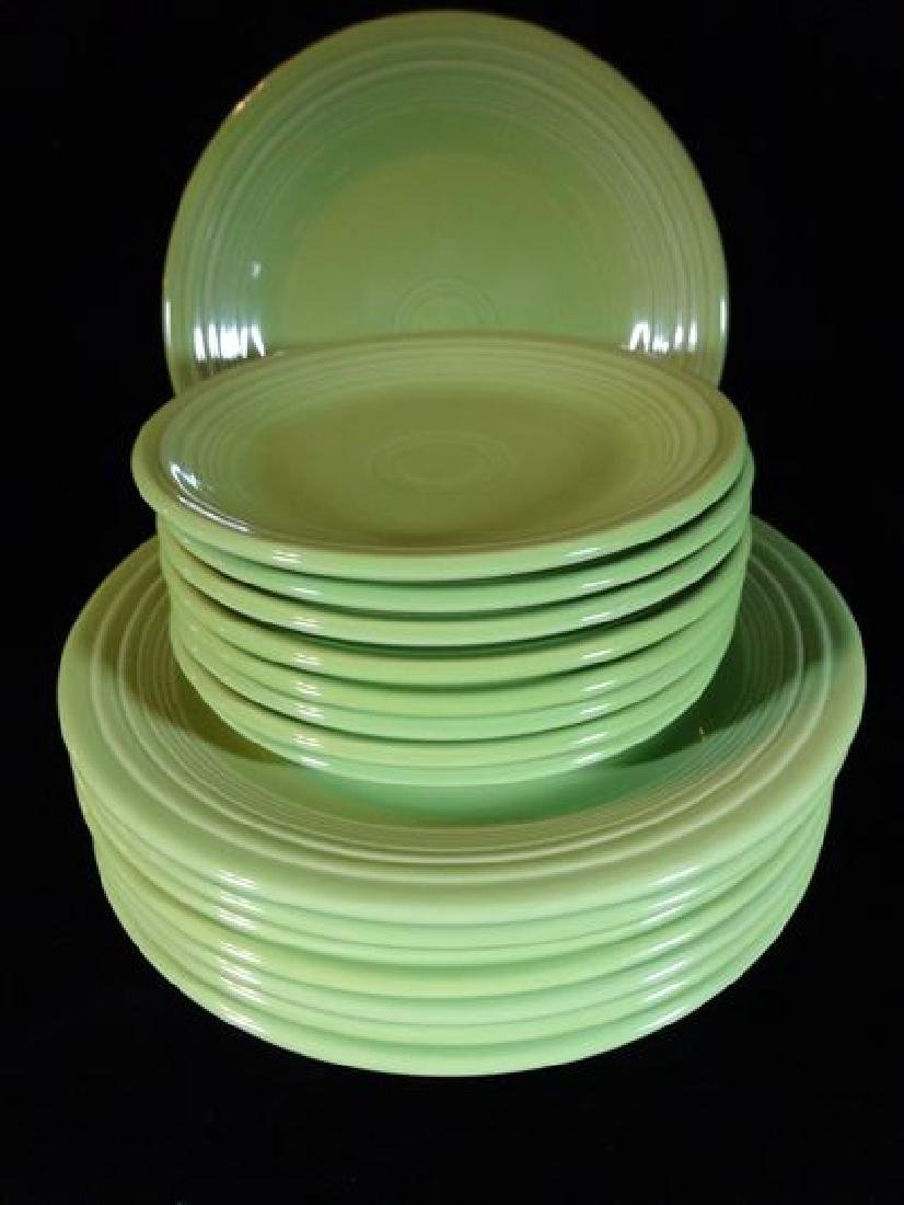 16 PC VINTAGE FIESTA WARE, SPRING GREEN, INCLUDES EIGHT