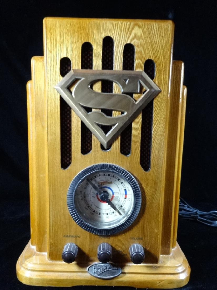 SUPERMAN RETRO RADIO, IN ORIGINAL BOX, VERY GOOD