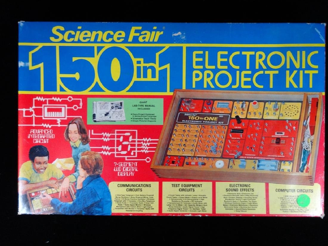 VINTAGE SCIENCE FAIR ELECTRONIC PROJECT KIT TOY, IN