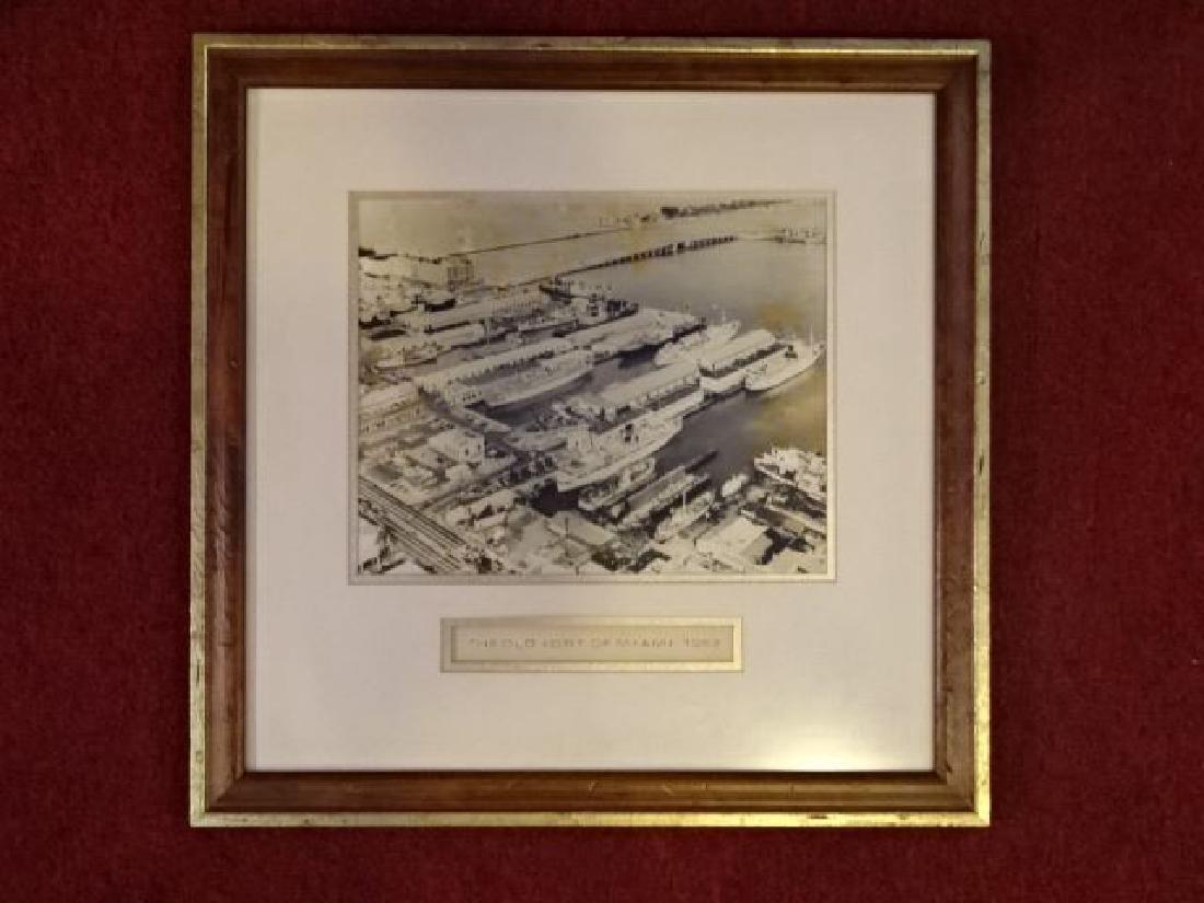 MID CENTURY PHOTOGRAPH, OLD PORT OF MIAMI CIRCA 1962