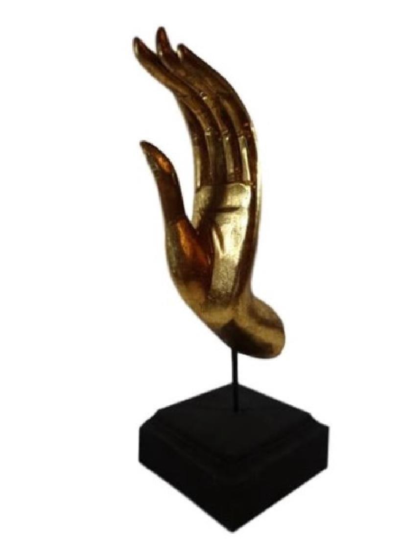 THAI BUDDHA GOLD LEAF MUDRA HAND SCULPTURE, THE
