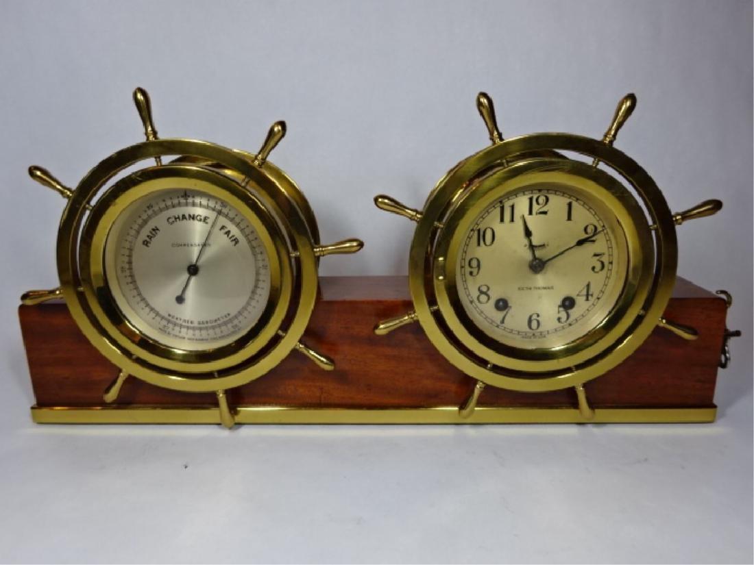 1950's NAUTICAL MOTIF SETH THOMAS CLOCK WITH TAYLOR