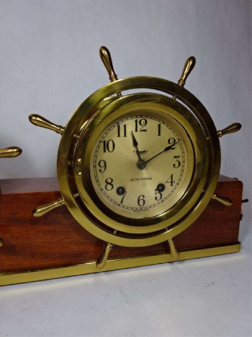 1950's NAUTICAL MOTIF SETH THOMAS CLOCK WITH TAYLOR - 3
