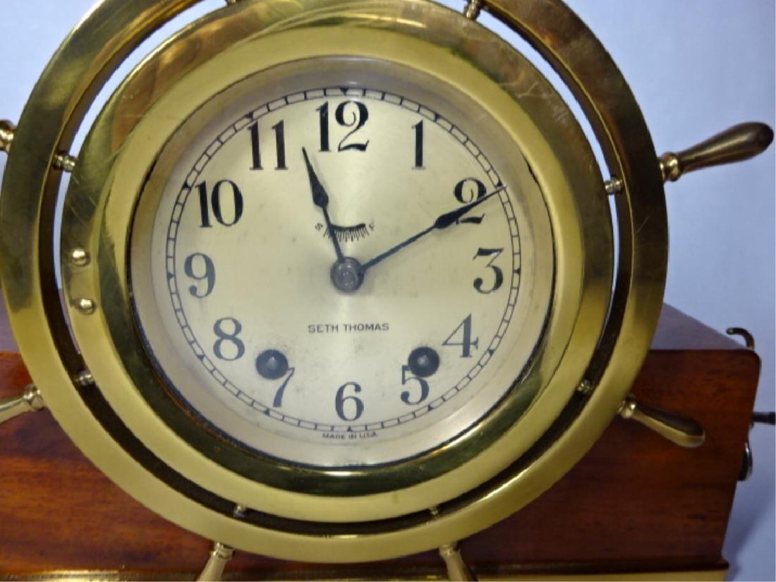1950's NAUTICAL MOTIF SETH THOMAS CLOCK WITH TAYLOR - 4
