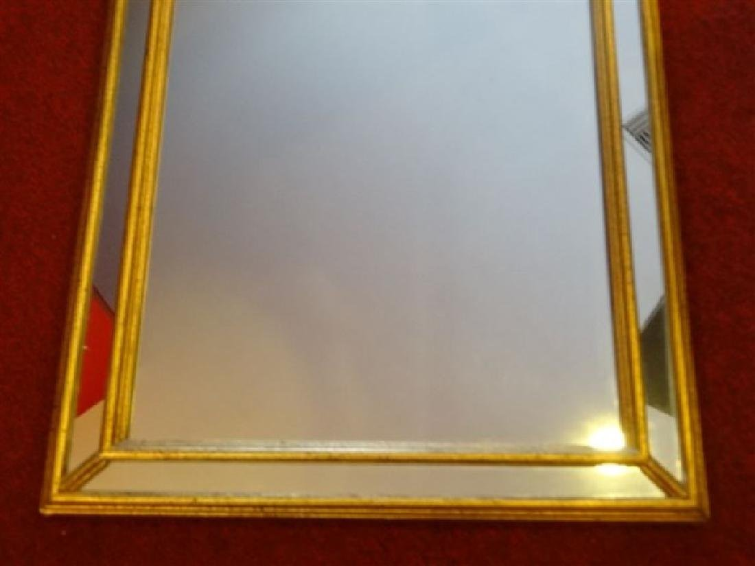 LARGE GEORGIAN STYLE GOLD FRAME MIRROR, VERY GOOD - 3