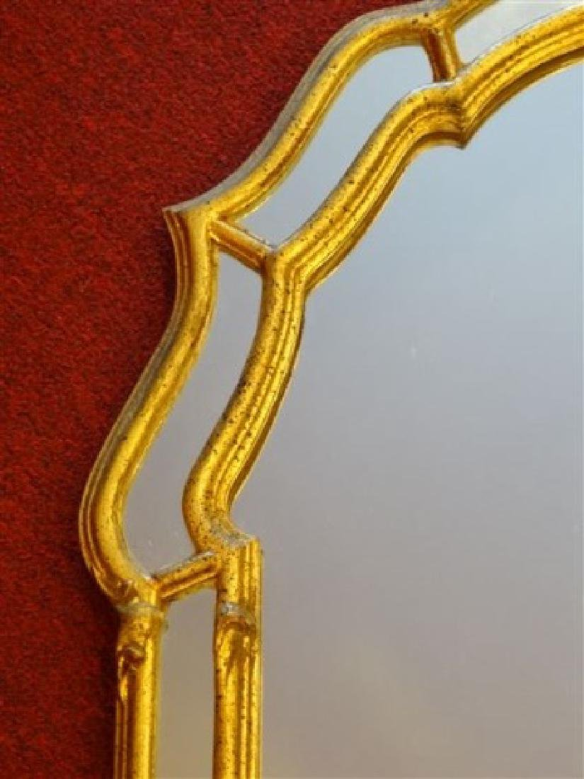 LARGE GEORGIAN STYLE GOLD FRAME MIRROR, VERY GOOD - 4