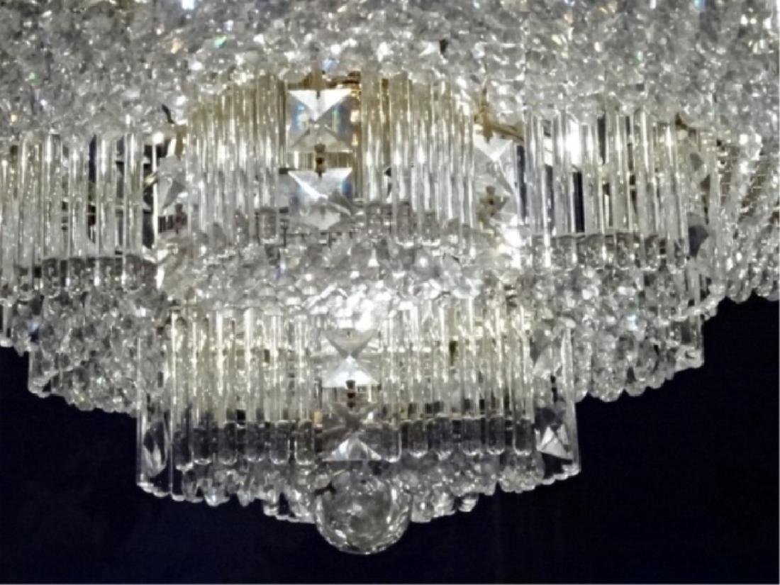 MID CENTURY LEAD CRYSTAL CHANDELIER, HOLLYWOOD REGENCY - 5