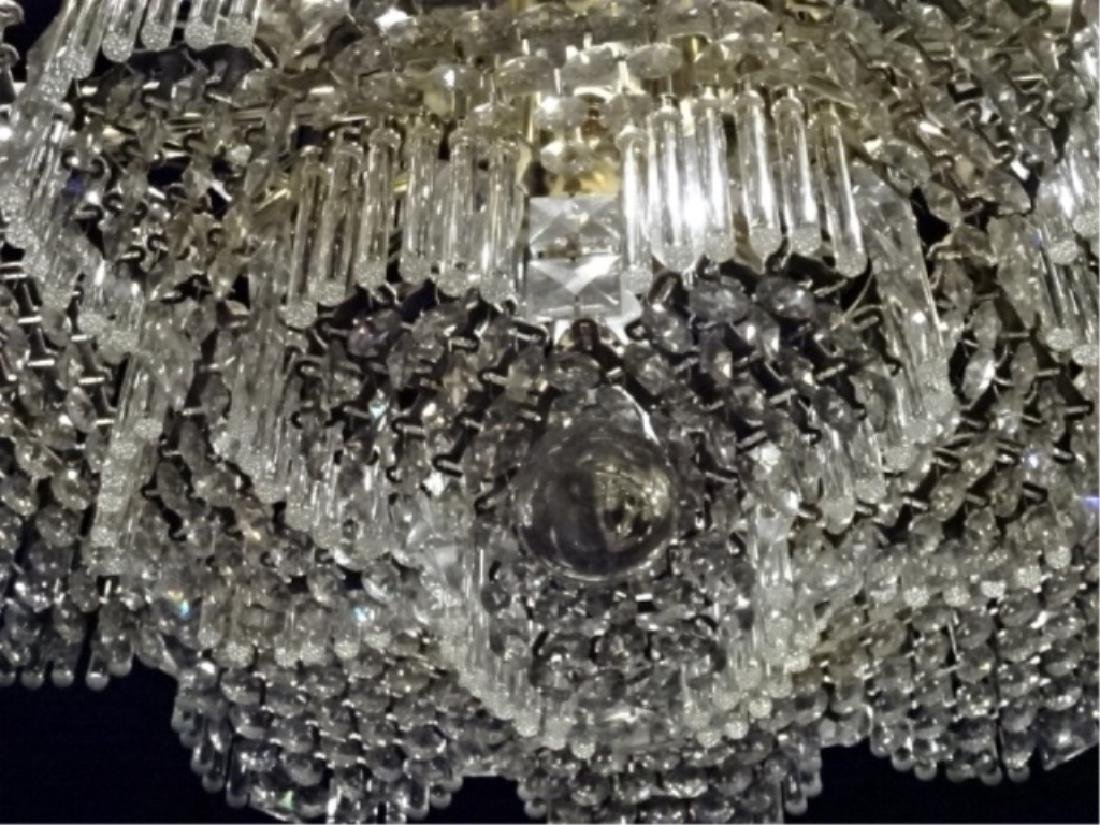 MID CENTURY LEAD CRYSTAL CHANDELIER, HOLLYWOOD REGENCY - 9