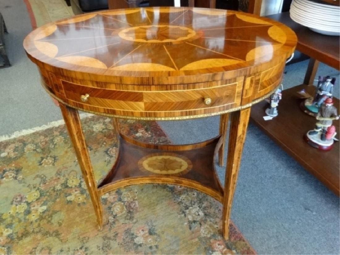 MAITLAND SMITH OVAL MARQUETRY TABLE WITH UNDERTIER, - 2